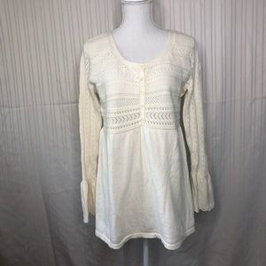 J. Jill Sweater Bell Sleeve Sz M